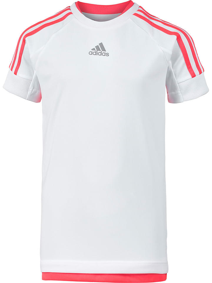 Koszulka funkcyjna w kolorze białym Adidas Wyprzedaż w