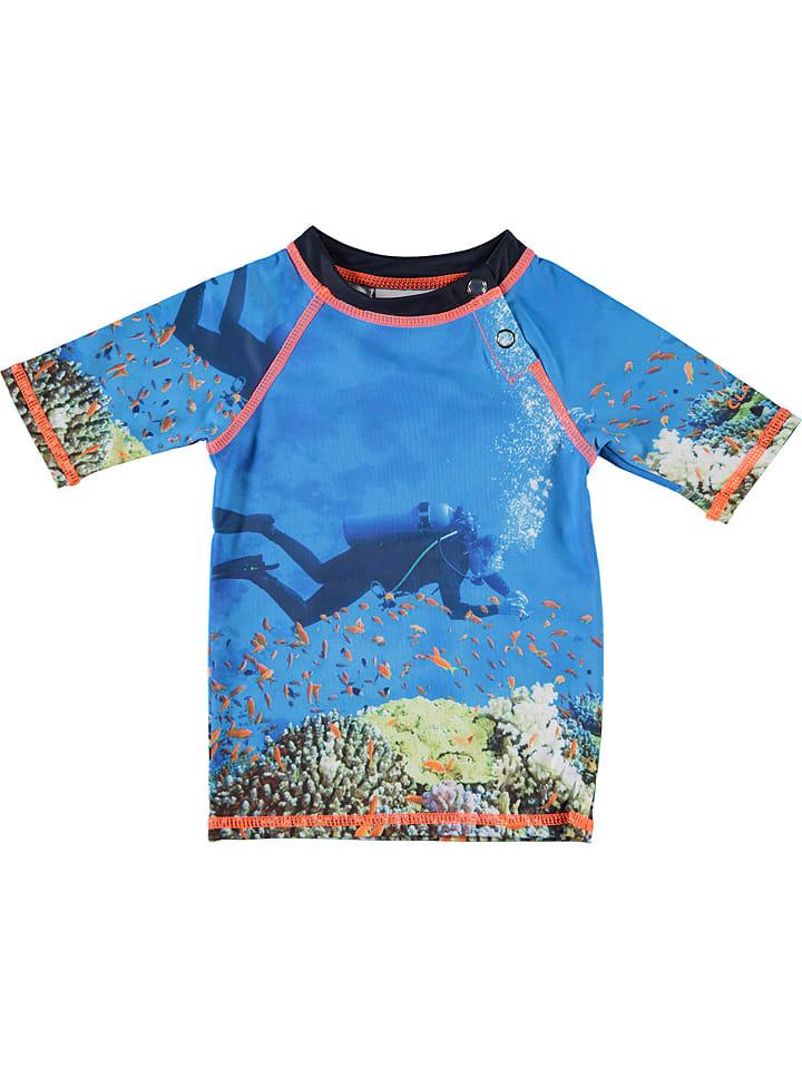 Claesens Koszulka kąpielowa w kolorze niebieskim ze wzorem