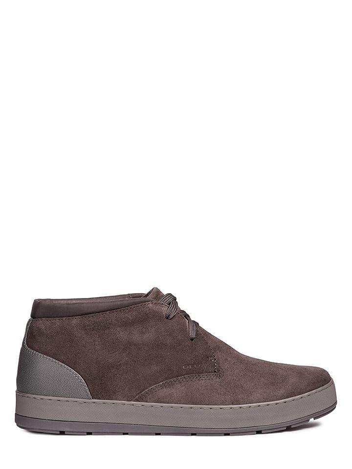 Geox Skórzane sneakersy w kolorze brązowym