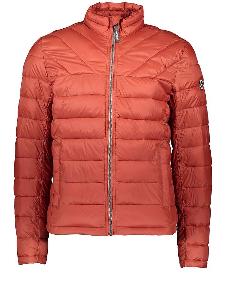 Tom Tailor Pikowana kurtka w kolorze pomarańczowym