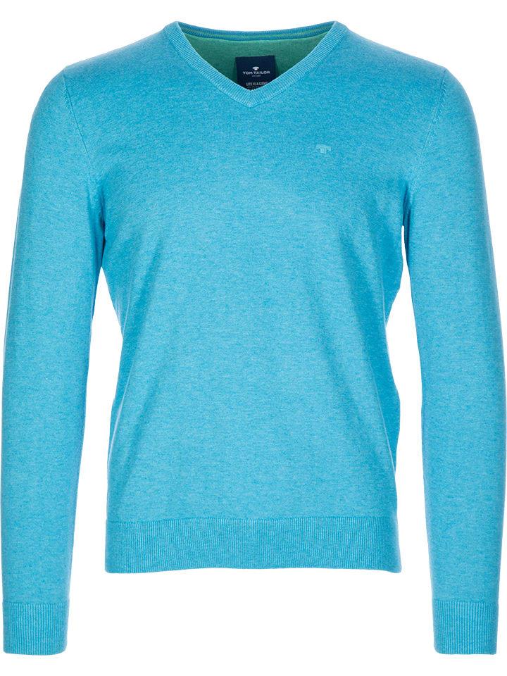 Tom Tailor Sweter w kolorze turkusowym