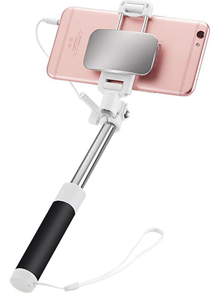 SmartCase Selfie stick Bluetooth w kolorze czarno-srebrnym