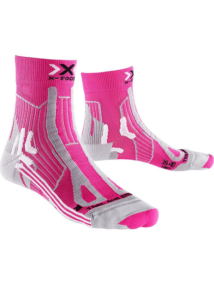 """X-Socks Skarpety trekkingowe """"Trail Energizer"""" w kolorze różowym"""