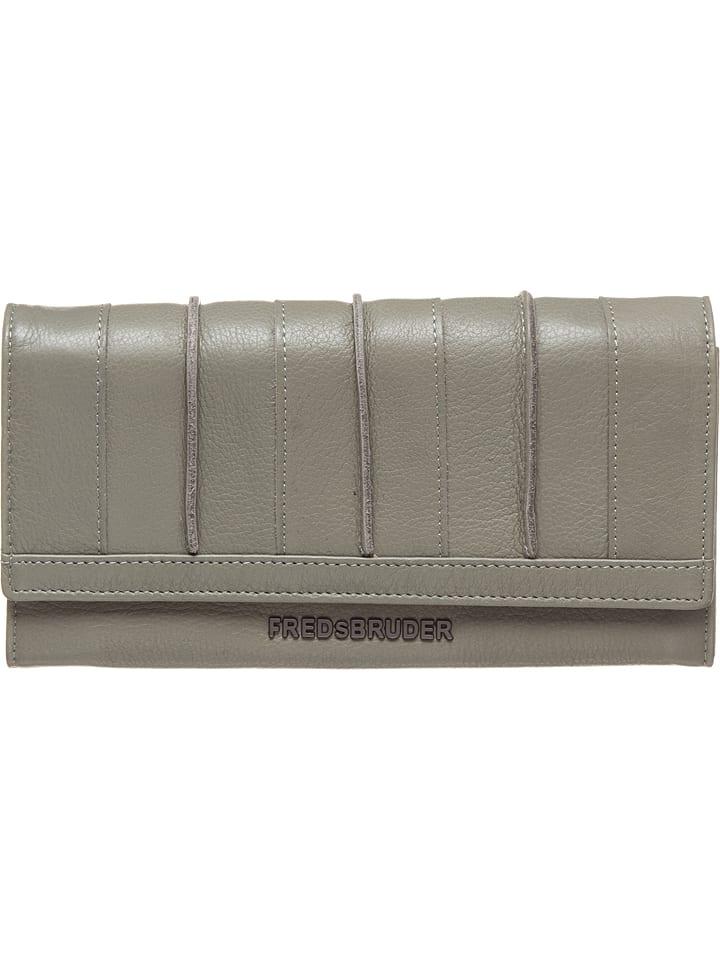 "FREDs BRUDER Portefeuille en cuir  ""Caennchen Wallet Easy"" - gris - 19 x 10 x 1 cm"