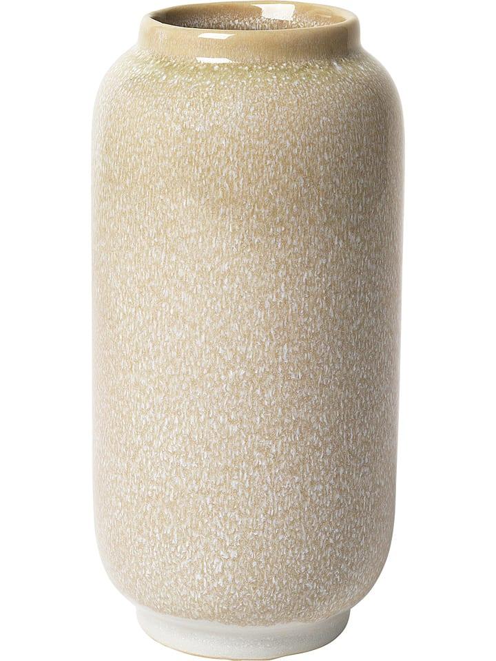 """Broste Copenhagen Vase """"Almas"""" - beige - 20,5 x 10 cm"""