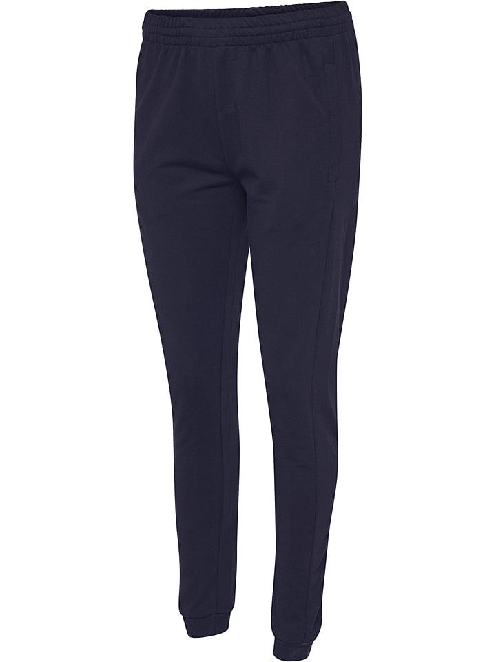 """Hummel Pantalon en sweat """"Logo"""" - bleu foncé"""