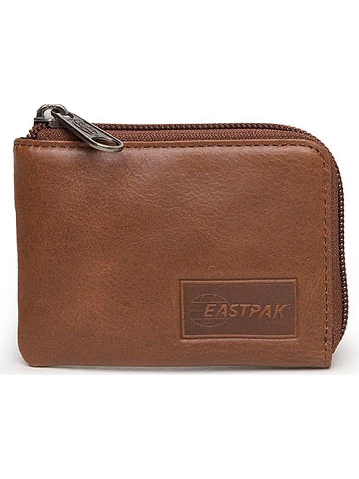 """Eastpak Portefeuille en cuir """"Droop"""" - marron clair - 8 x 11,5 x 1,5 cm"""