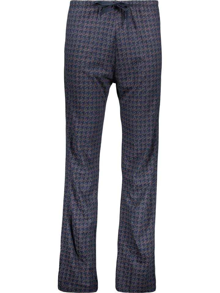 HUBER Dessous Spodnie piżamowe w kolorze granatowym