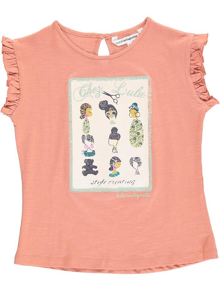 """Lulu Castagnette Koszulka """"Eccho"""" w kolorze szaroróżowym"""