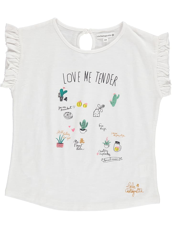 "Lulu Castagnette Koszulka ""Emilie"" w kolorze białym"