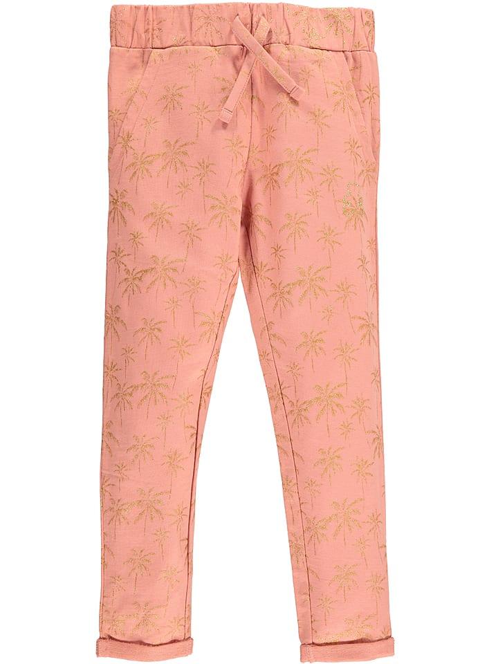 """Lulu Castagnette Spodnie dresowe """"Epinette"""" w kolorze brzoskwiniowym"""