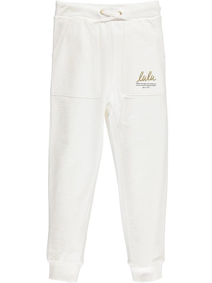"""Lulu Castagnette Spodnie dresowe """"Evan"""" w kolorze białym"""