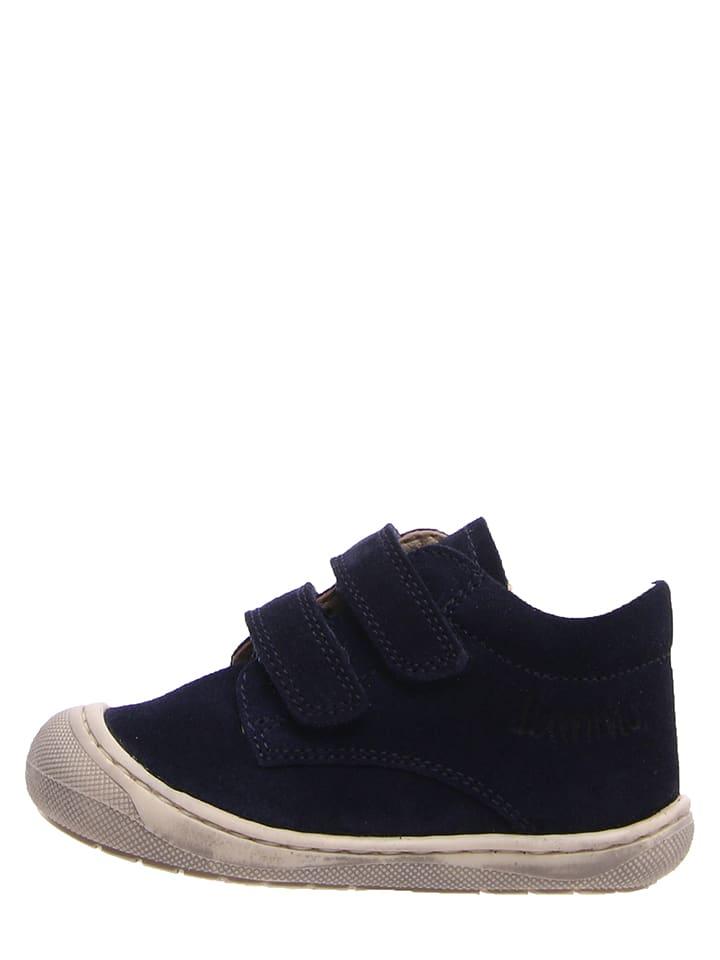 Lamino Leren sneakers donkerblauw