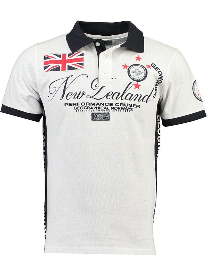 Geographical Norway Koszulka polo w kolorze białym