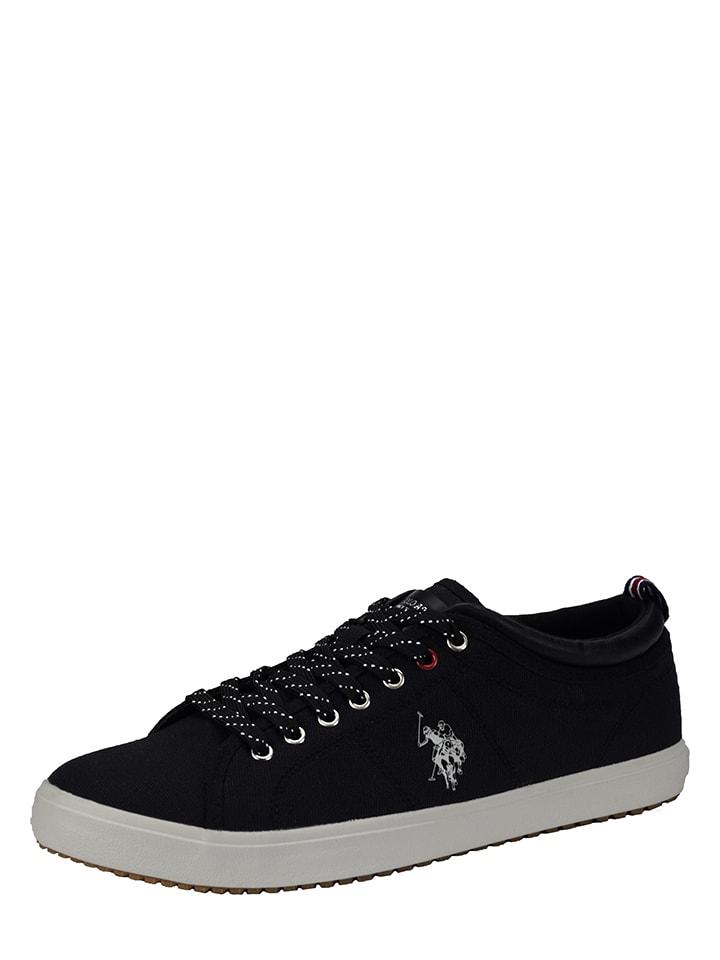 "U.S. Polo Sneakersy ""Wuck"" w kolorze czarnym"