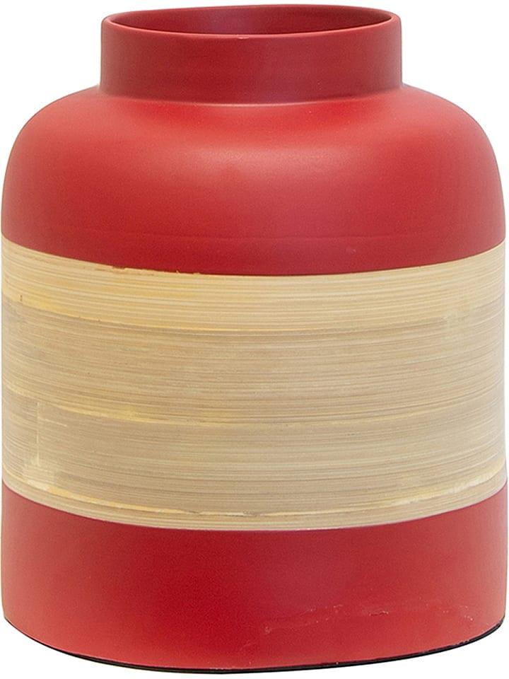 THE HOME DECO FACTORY Vase décorative - noir/naturel - 22 x 18 cm
