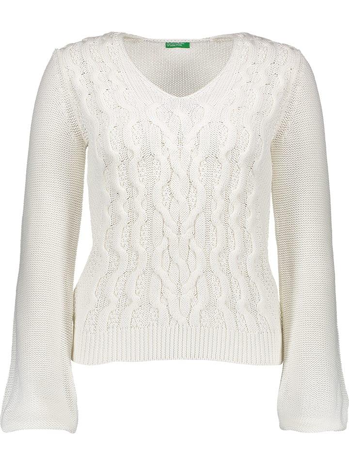 Benetton Sweter w kolorze białym