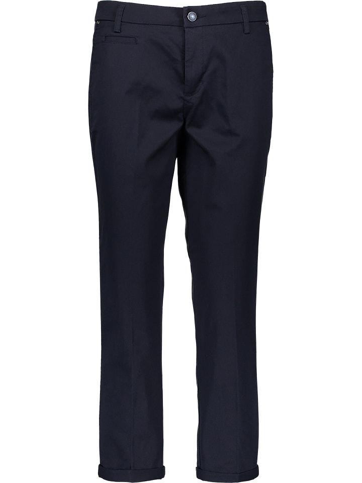 Benetton Spodnie w kolorze granatowym