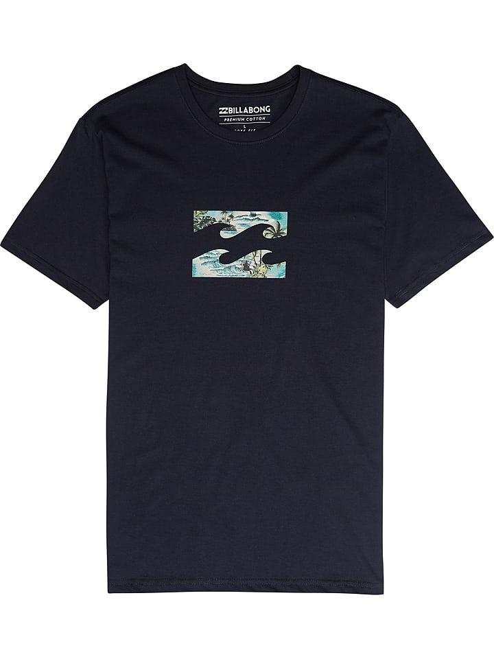 """Billabong T-shirt """"Team Wave"""" - bleu foncé"""