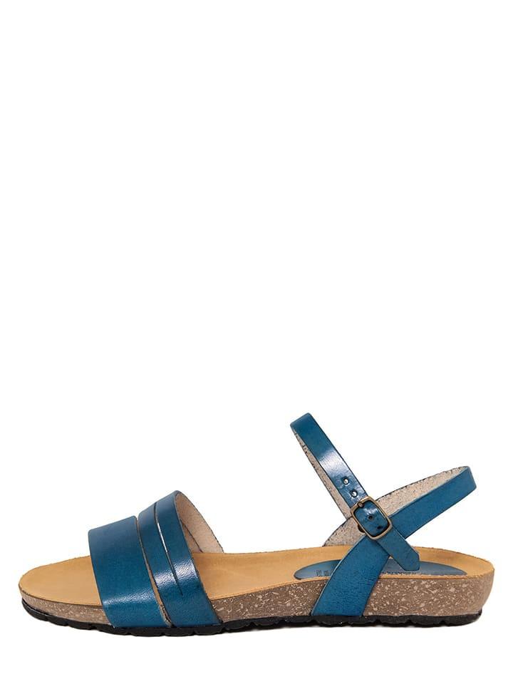 Skórzane sandały w kolorze niebieskim PIEMME SHOES
