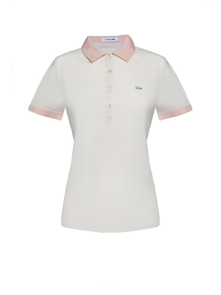 wiele modnych oficjalne zdjęcia piękno Koszulka polo w kolorze biało-jasnoróżowym - Lacoste ...