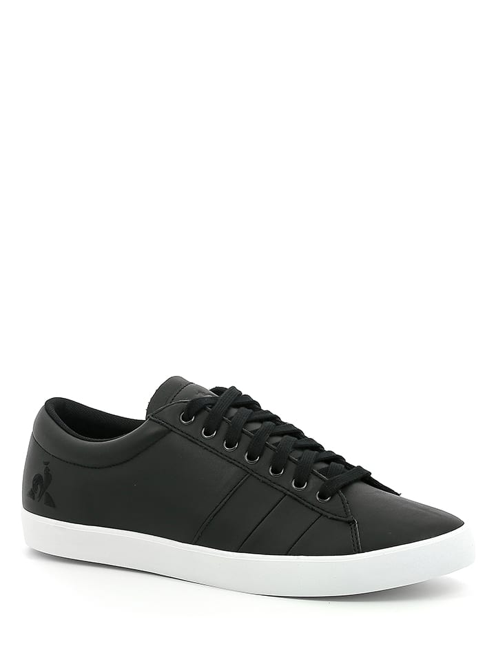 "Le Coq Sportif Leren sneakers ""Flag Premium"" zwart"