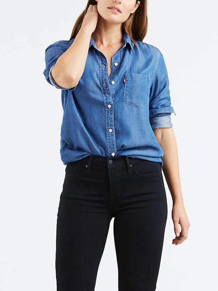 Levi´s Dżinsowa bluzka w kolorze niebieskim