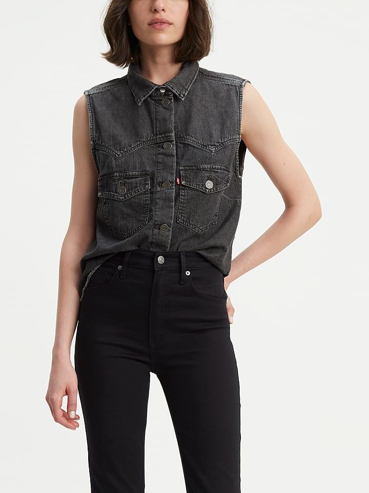 Levi´s Dżinsowa bluzka w kolorze ciemnoszarym