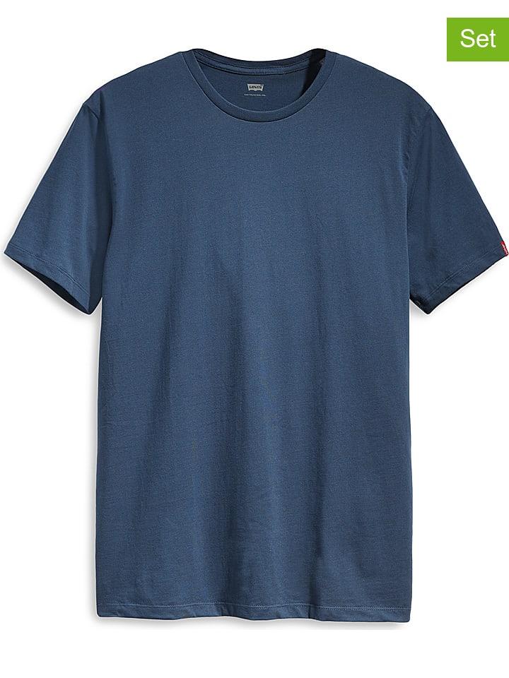 Levi´s Koszulki (2 szt.) w kolorze granatowym i białym