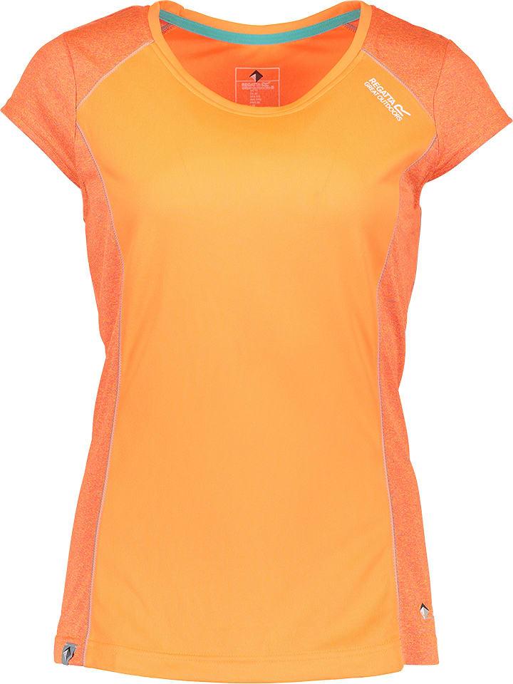 """Regatta Koszulka funkcyjna """"Hyper Reflective II"""" w kolorze pomarańczowym"""