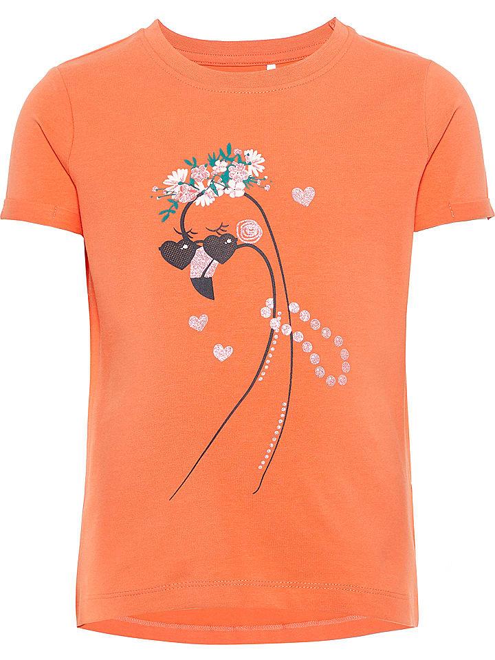 "Name it Shirt ""Vixi"" oranje"