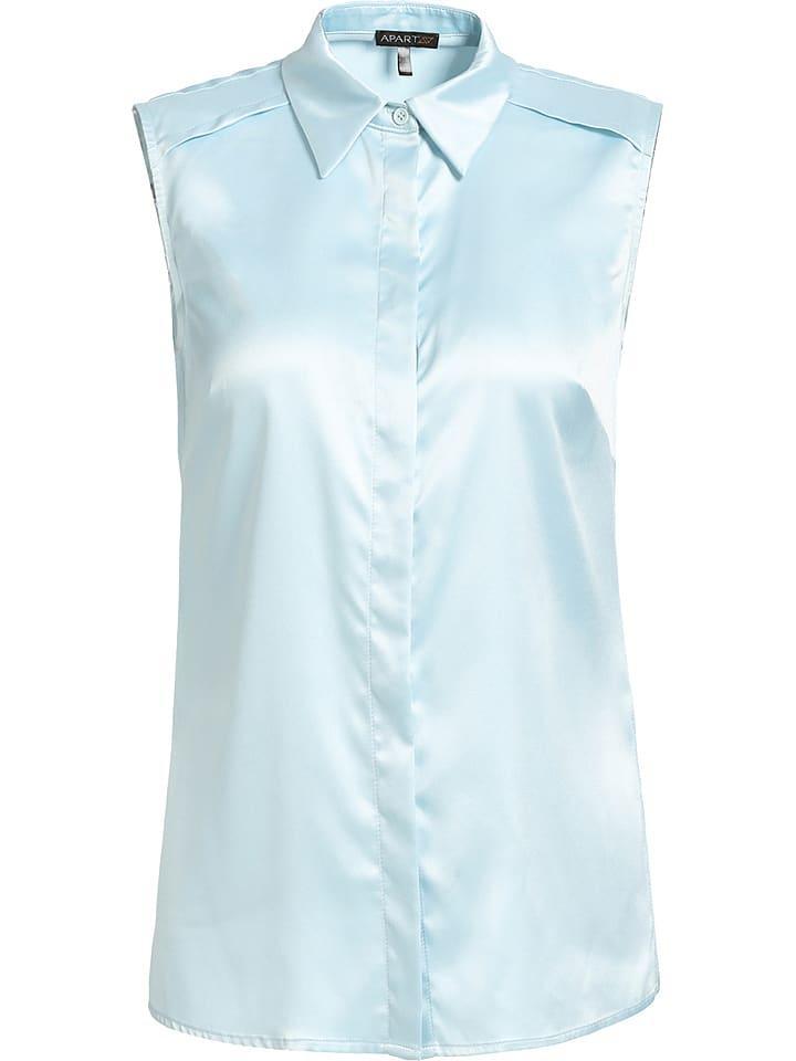 APART Satinbluse in Hellblau - 63% | Größe 40 | Damen blusen