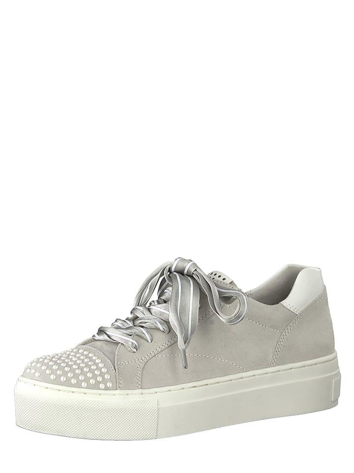 Marco Tozzi Sneakersy w kolorze jasnoszarym