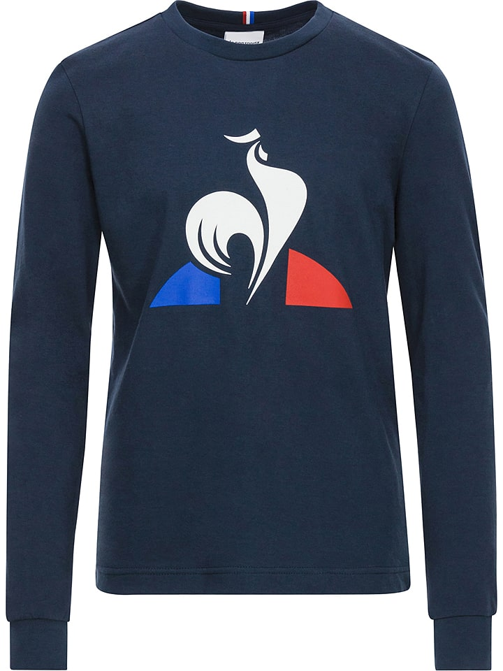 le coq sportif t shirt manches longues bleu fonc. Black Bedroom Furniture Sets. Home Design Ideas