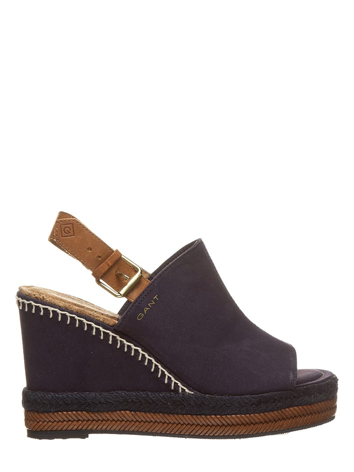 """GANT Footwear Sandalettes compensées """"San Diego"""" - bleu foncé"""