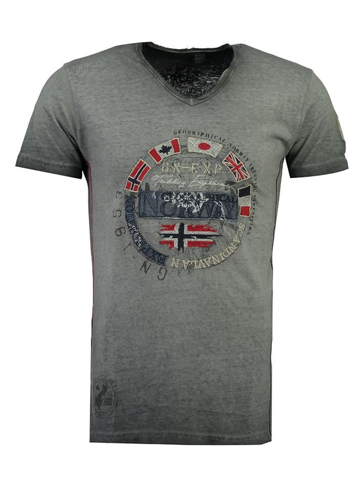 """Geographical Norway Koszulka """"Jimpeach"""" w kolorze szarym"""