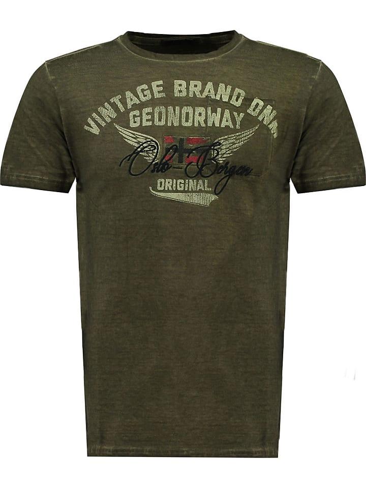 "Geographical Norway Koszulka ""Jross"" w kolorze khaki"