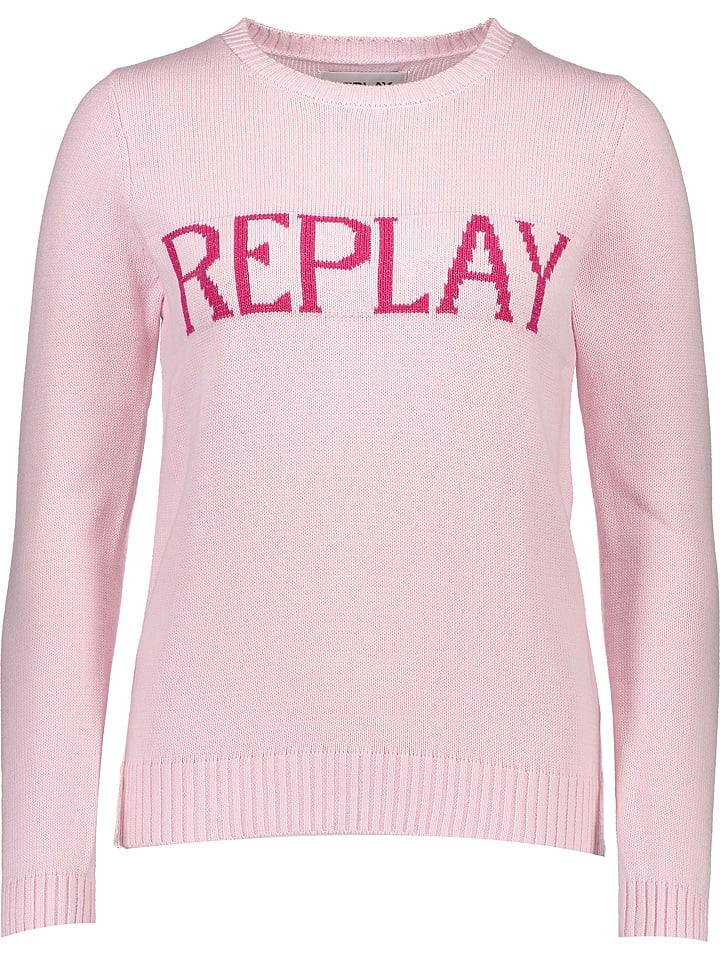 best website 8680f 6d51d Limango | SALE Replay Pullover in Rosa | 55% Rabatt | Größe ...