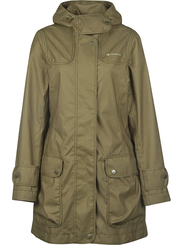 Finside Funktionsmantel ´´Joutsen´´ in Khaki - 41% | Größe 34 | Damen outdoorjacken