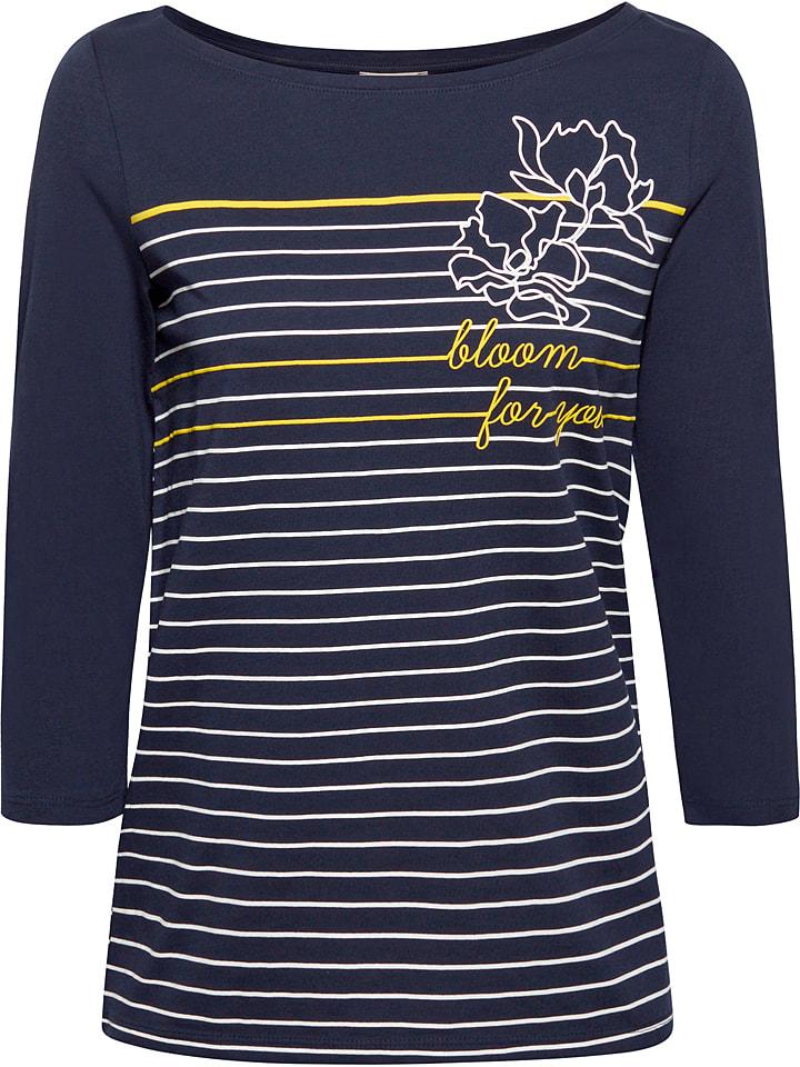 ESPRIT T-shirt manches longues - bleu foncé