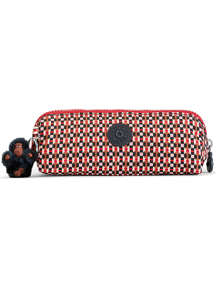 "Kipling Trousse ""Brush"" - rouge/marron - 20 x 7,5 cm"