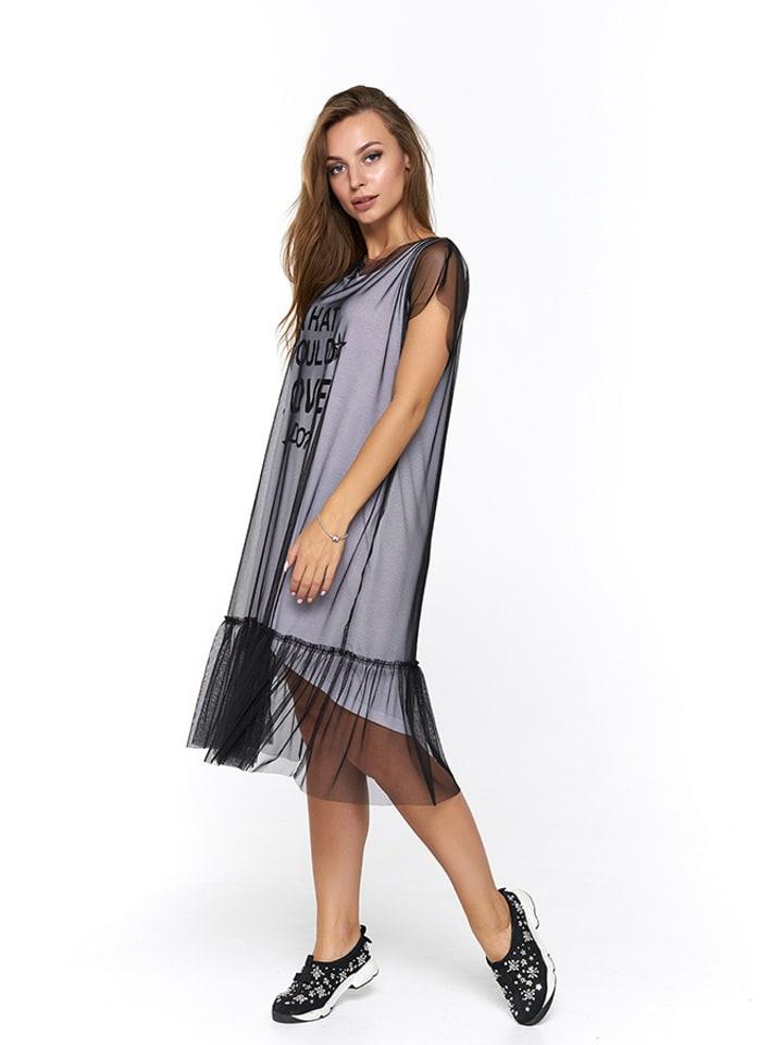 Bessa Sukienka w kolorze biało-czarnym