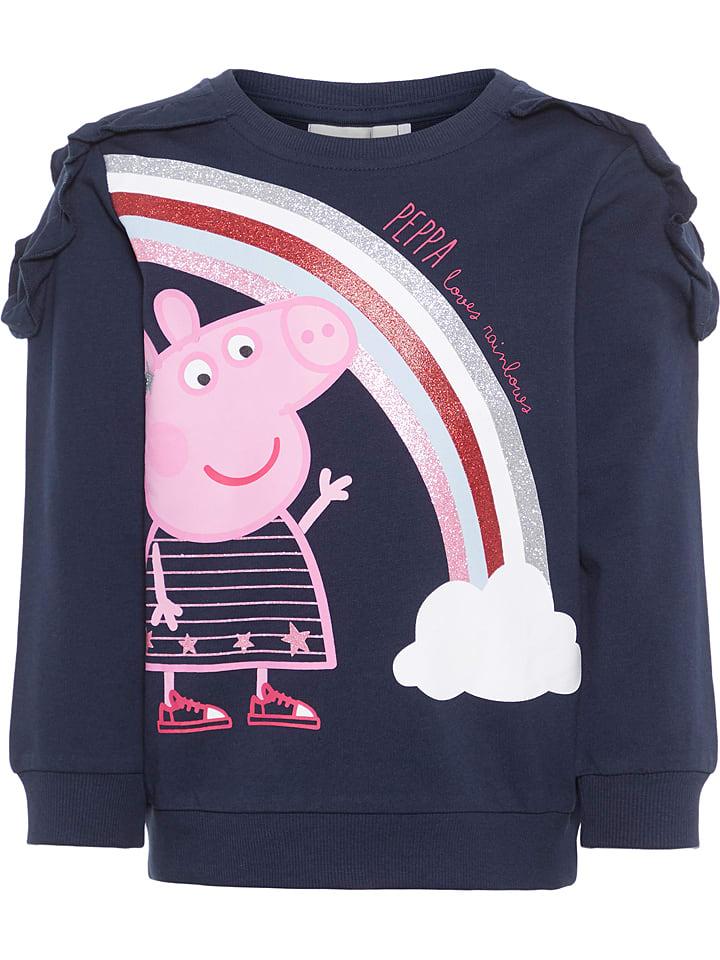 """Name it Sweatshirt """"Peppapig"""" donkerblauw"""