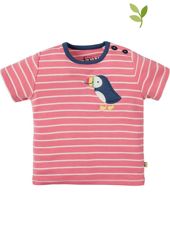 """Frugi Koszulka """"Wilbur"""" w kolorze jasnoróżowo-granatowym"""