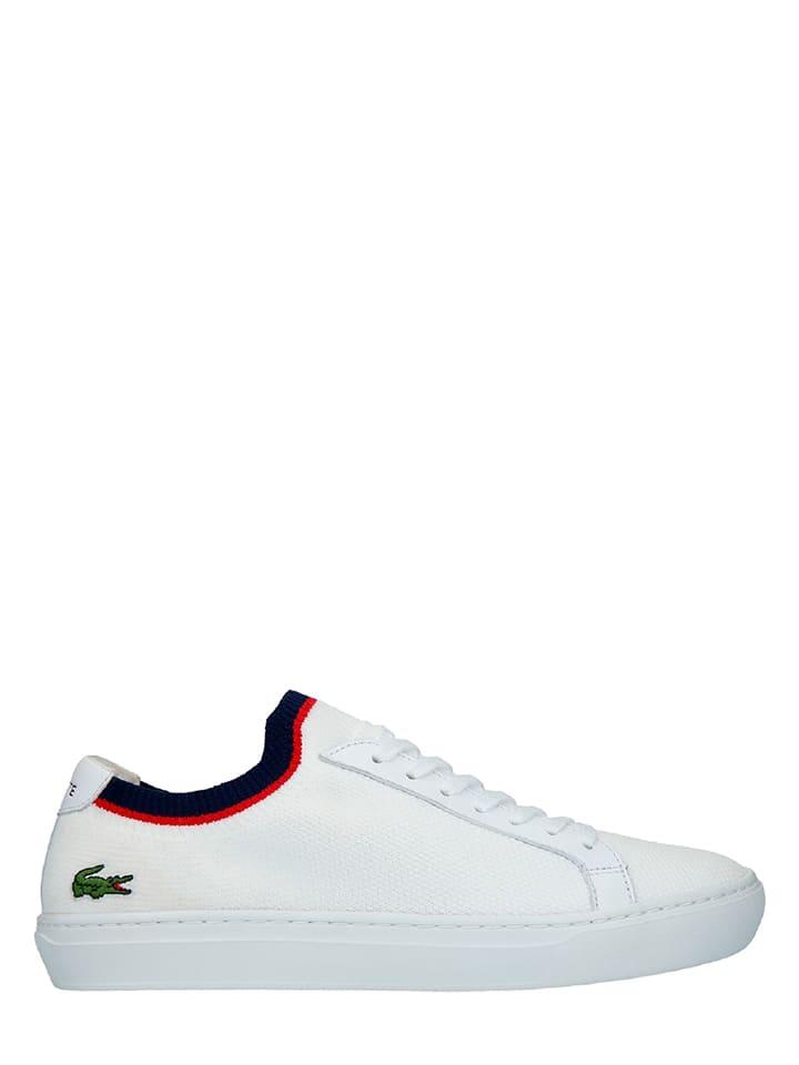 """Lacoste Sneakersy """"La Piquee"""" w kolorze biało-granatowym"""