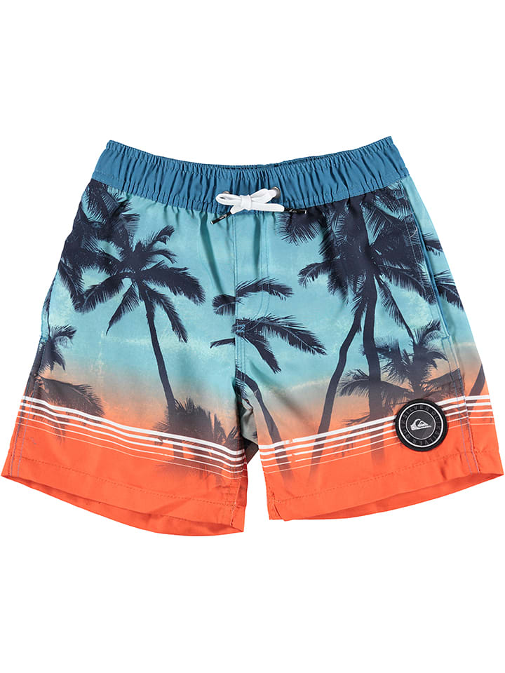 "Quiksilver Short de bain ""Paradise"" - bleu/orange"