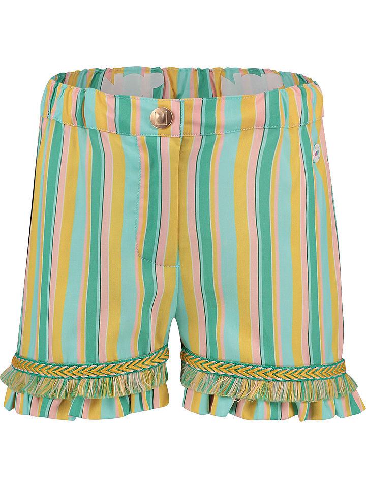"""NOP Szorty """"Beekman"""" w kolorze zielono-żółto-jasnoróżowym"""