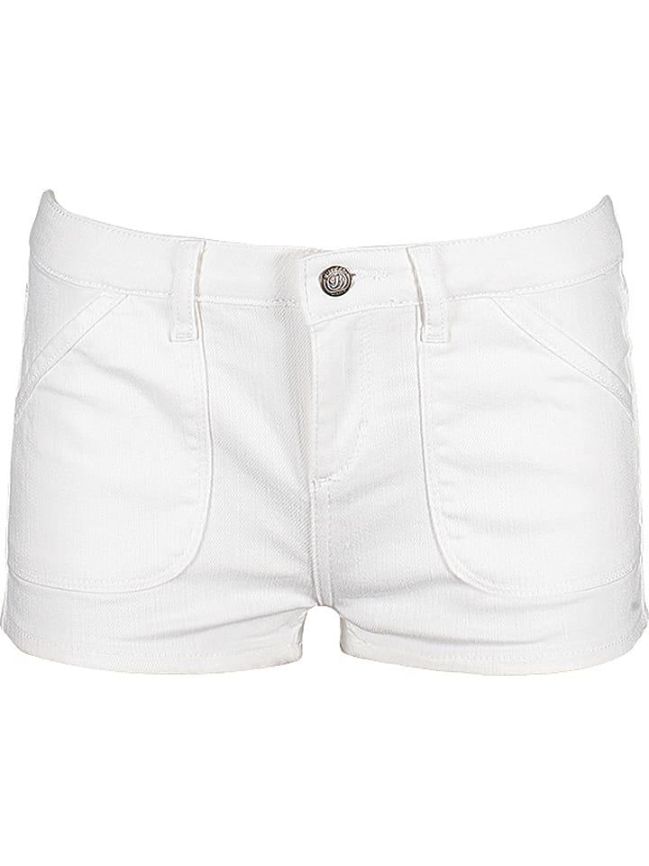 Buffalo Dżinsowe szorty w kolorze białym