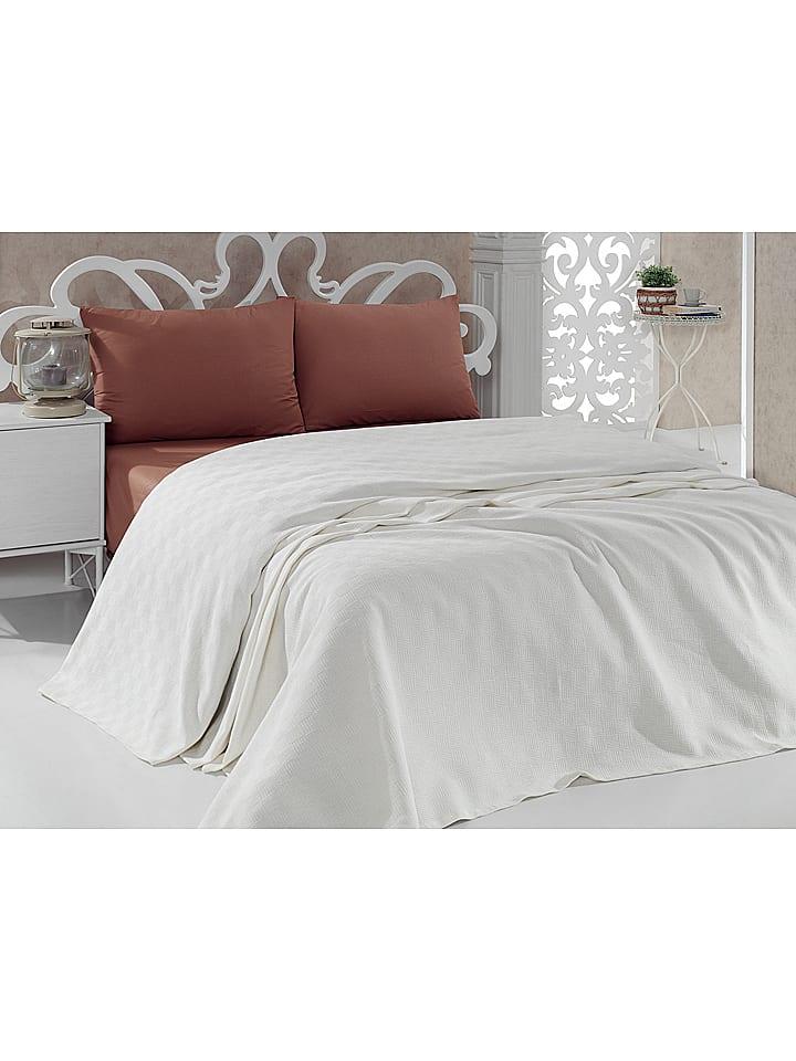 colorful cotton couvre lit beige outlet limango. Black Bedroom Furniture Sets. Home Design Ideas