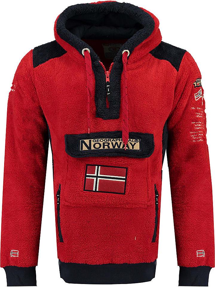 """Geographical Norway Fleece sweatshirt """"Gymclass Sherco"""" rood"""